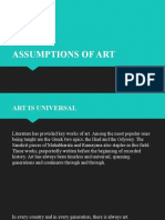 2. Assumptions of Art