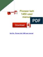 Pioneer Keh 1450 User Manual (1)