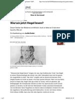 Butler_Warum jetzt Hegel lesen