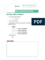 10 - Sistema de Numeração Decimal - Teoria