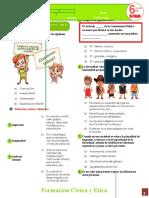 Formacion Civica y Etica Sexto grado 2DA EVALUACION multigrado