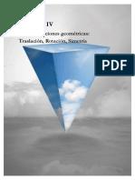 UNIDAD IV TRANSFORMACIONES GEOMÉTRICAS