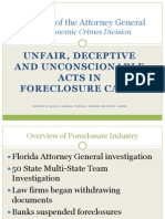 Florida Attorney General Fraudclosure Report | Unfair, Deceptive and Unconscionable Acts in Foreclosure Cases