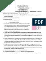 Fluid Mechanics Assignment 3