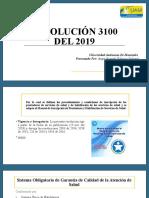 Resolución 3100 del 2019 resumen diapositivas