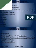 Familie und Freunde Njemacki 1