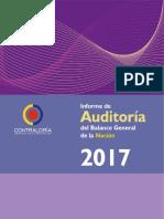Informe de Auditoría al Balance General de la Nación 2017
