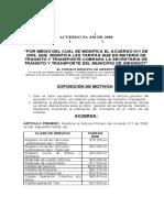 Girardot Acuerdo No. 028 del 2008