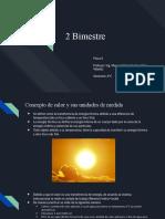 Principios de calor y dilatación