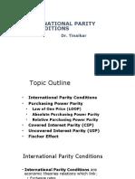 2 - International Parity Conditions