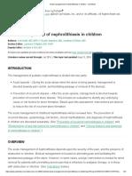 Acute management of nephrolithiasis in children