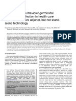 Applications of ultraviolet germicidal irradiation disinfection in health care facilities_ Effective adjunct, but not stand-alone technology