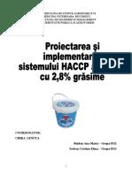 Proiectarea Si Implementarea HACCP Iaurt 2, 8 %Grasime