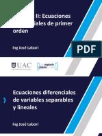 EcuDif U2 C1. ED de variables separables y lineales