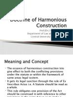 Doctrine of Harmonious Construction