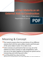Use of Pari Materia as an External Aids