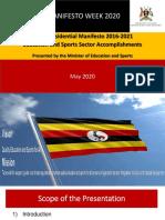 Ministry of Education Manifesto Week May 2020