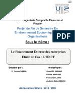 Projet de Financement Externe de L'Entreprise