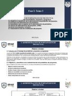 Fase I -Tema 2 - Adm portafolios de proyectos