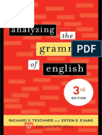Analyzing the Grammar of English, 3rd Edition