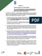 ANEXO No 1 MUNICIPIOS DE LA CONVOCATORIA