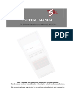 TSI SYSTEM 3P 15 to 30KVA 120VAC USER MANUAL Rev 2.3