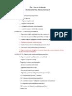 Plan – Lucrare de disertație