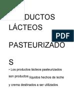 productos lacteos pasteurizados