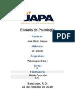 Tarea 9 y  10 psicologia clinica 1
