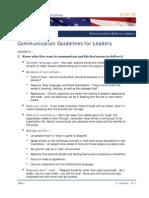 3.1 Communication Skills for Leaders HO2