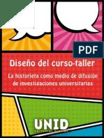 Diseño del curso-taller. La historieta como medio de difusión de investigaciones universitarias