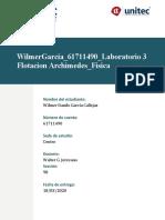 WilmerGarcia_61711490_Laboratorio #3 Flotación_Archimedes (Física I)