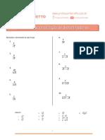 07 - Racionalização de Denominadores - Exercicios.pdf
