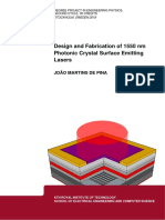 Design and Fabrication of 1550 nm Photonic Crystal Surface Emitting Lasers