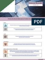 Protocolos Sectoriales para el reinicio de actividades 2020