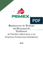 Reglamento de Trabajadores de Planta Confianza de PEMEX