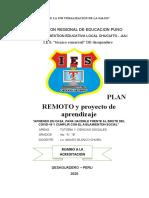 PLAN DE TRABAJO REMOTO EDUCATIVO FRENTE AL BROTE DEL COVID