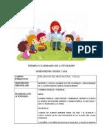 ✓  CALENDARIO DE ✓ ACTIVIDADES 27 al 30 abril (1) (1)