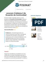 Solución Problema 2 de Ecuación de Continuidad