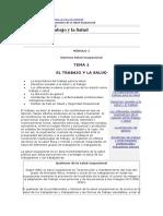 Modulo1_tema1_el Trabajo y La Salud