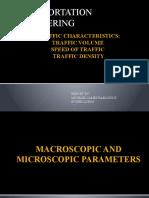 TRAFFIC CHARACTERISTICS REPORT
