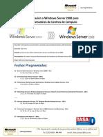 Plan Actualizacion a Windows Server 2008, 100 horas