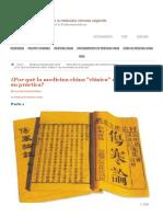 ¿Por qué la medicina china _clásica_ revolucionará su práctica_