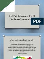 Rol Del Psicólogo En El Ámbito Comunitario