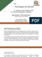 Diferencias, ventajas y desventajas de los instrumentos analógicos y digitales
