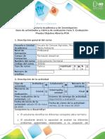 Guía de actividades y rúbrica de evaluación - Fase 5 - Evaluación. Prueba Objetiva Abierta (POA)