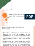Residencia fiscal para efectos tributarios