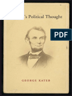 Lincolns political thought by Kateb, George Lincoln, Abraham