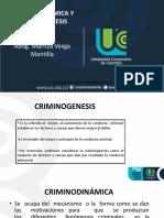CRIMINODINÁMICA Y CRIMINOGENESIS