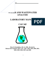 ANALYSIS OF WATER AND WASTEWATER(IMPORTANTÍSSIMO)